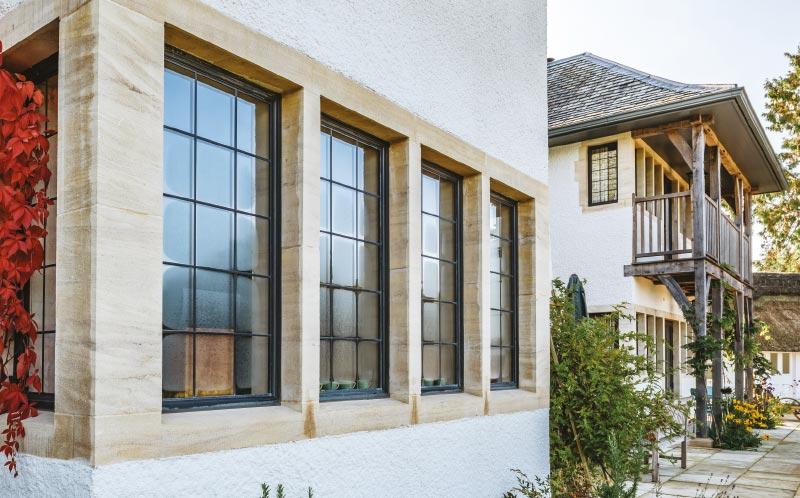 Self build period eco house window