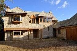 self builder using lincolnshire limestone