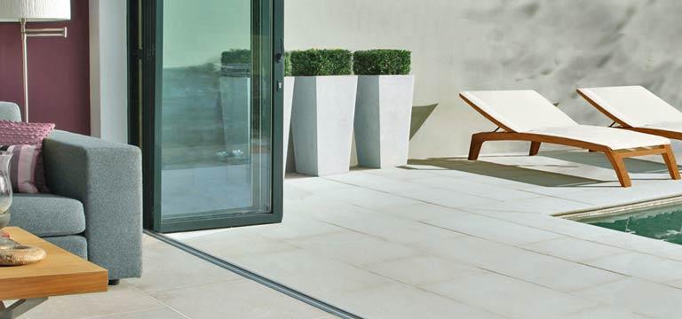 limestone flooring bifold doors thumb