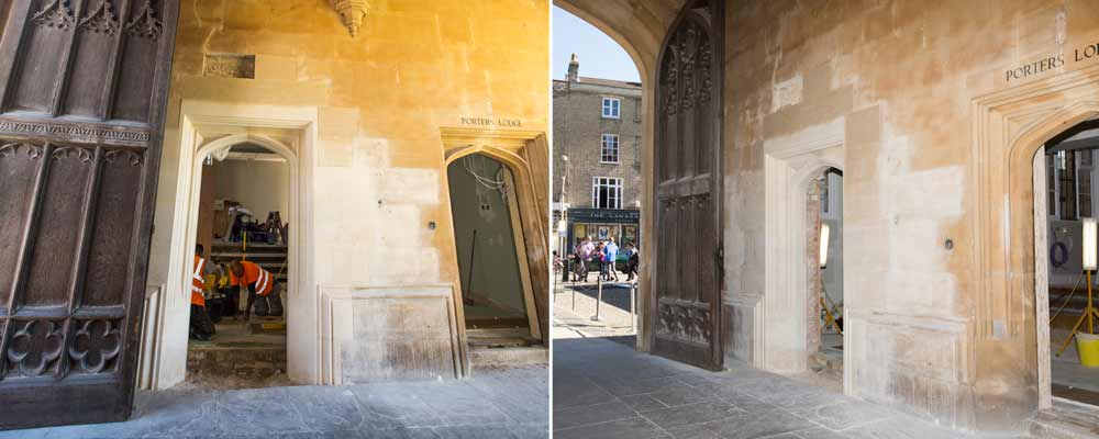 kings-college-stamford stone finished doorway