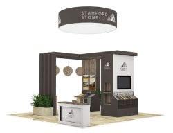 Stamford stones exhibition stand