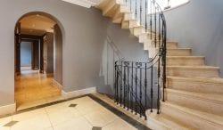 David lancaster interior limestone staircase