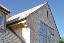 garden house stone gable end