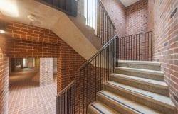 Jesus college west court limestone stairs