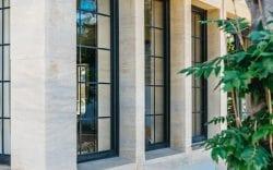 masonry stone mullion window