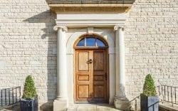 masonry stone portico