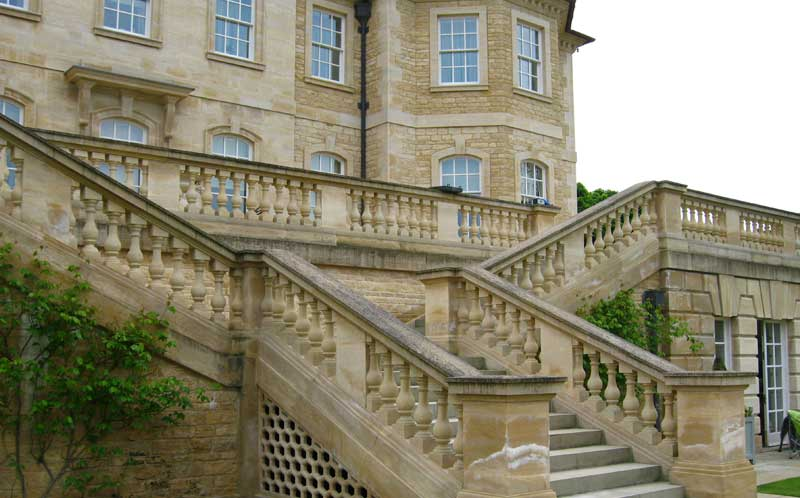 private yorkshire residence limestone stairway