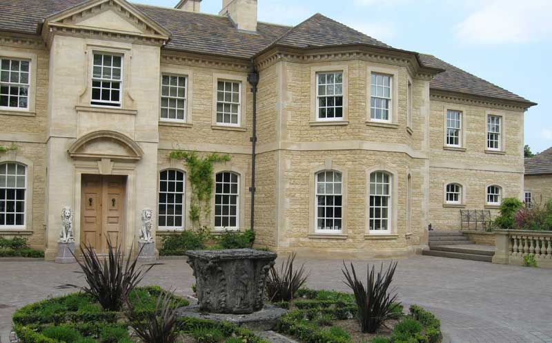 private yorkshire residence-limestone stonework exterior 6