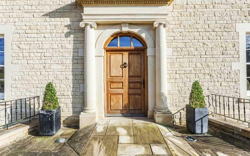 self build family home exterior door