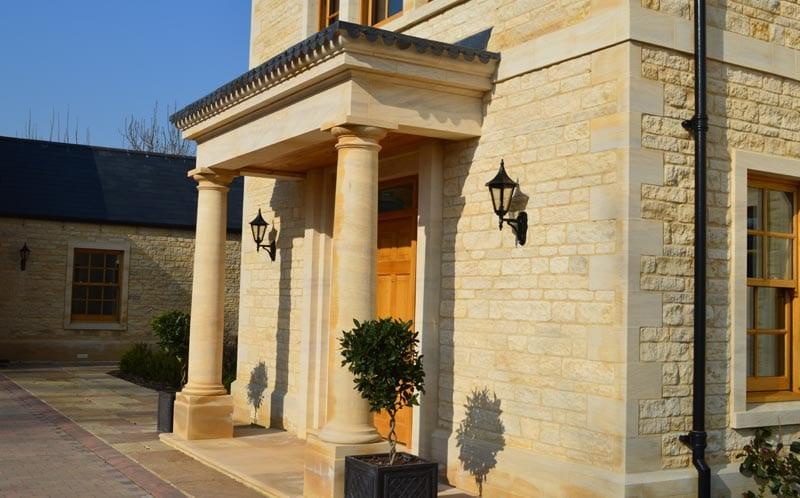 self build family home peterborough limestone portico