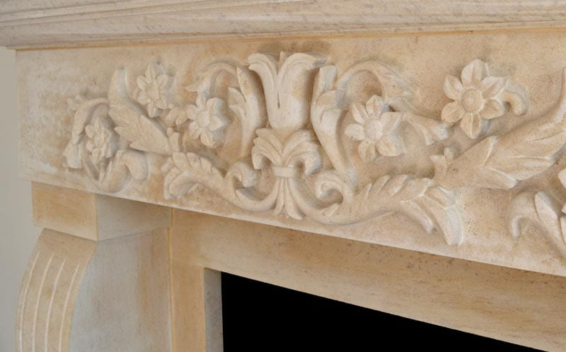 self build family home peterborough limestone fireplace