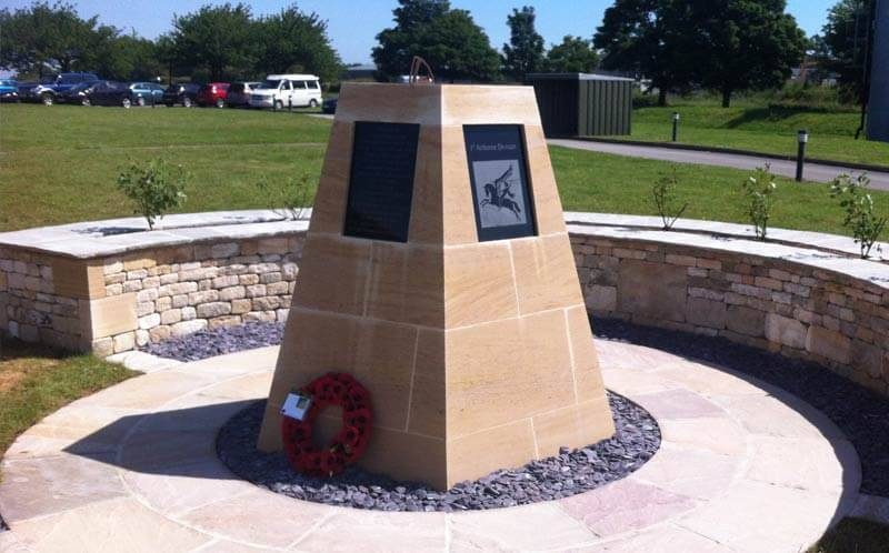 Barkston limestone memorial