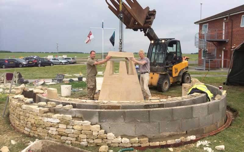 Barkston memorial construction