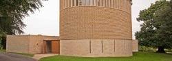 Ripon college limestone exterior wide