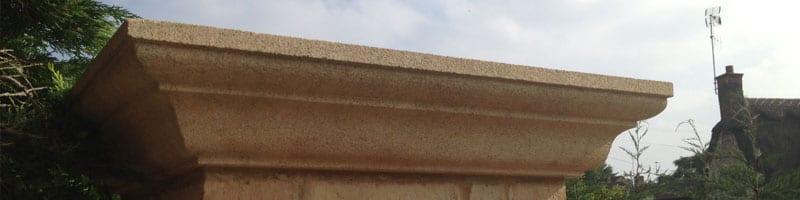 masonry stone pier cap