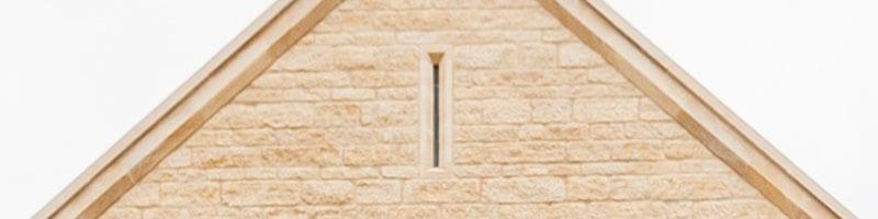 masonry stone gable vent