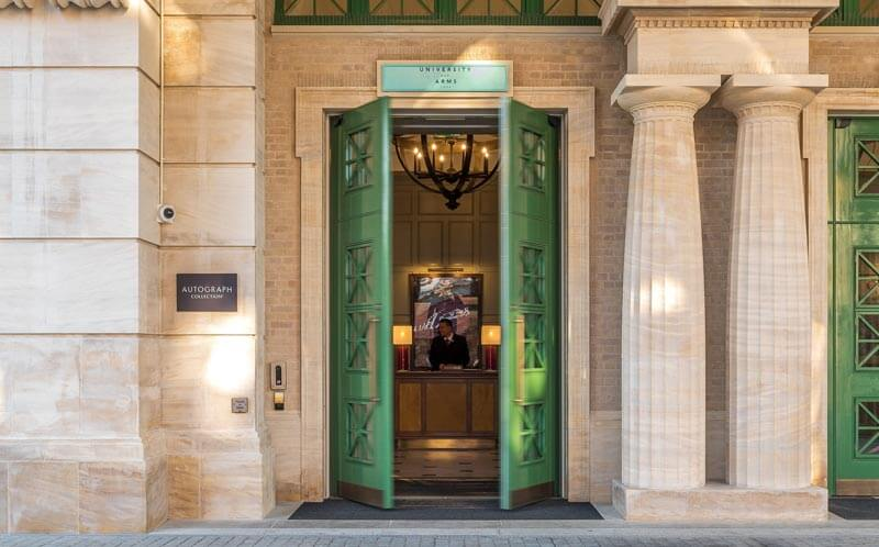 University Arms hotel limestone columns