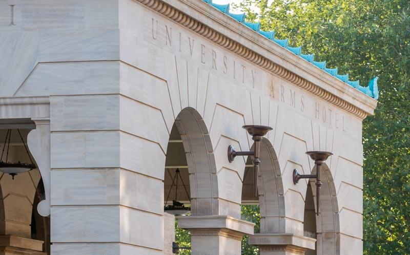 University Arms hotel stonework detail