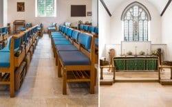 church of king charles interior limestone flooring