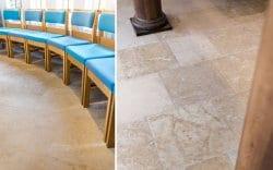 church of king Charles interior limestone flooring detail