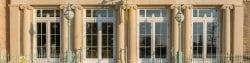 university arms hotel limestone carving exterior columns