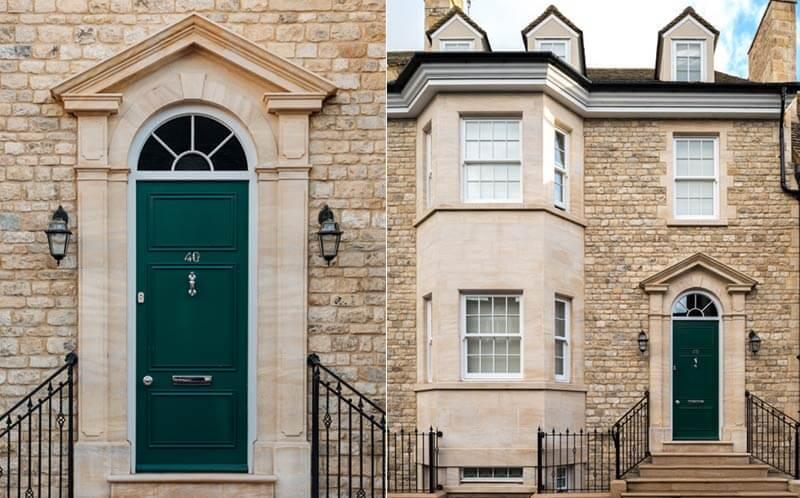 marshalls yard stamford stone exterior portico